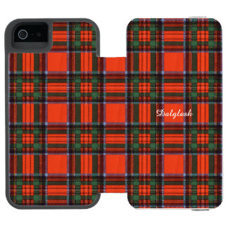 tartantartan Dalgleshの一族の格子縞のスコットランドのキルトpla iPhone SE/5/5sウォレットケース