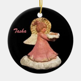 TASHA-GUARDIANの天使のポニーテールのコーラスは飾ります 陶器製丸型オーナメント