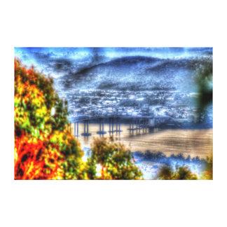 TASMAN橋ホーバートタスマニアオーストラリア キャンバスプリント