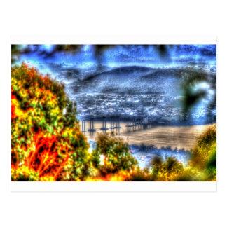TASMAN橋ホーバートタスマニアオーストラリア ポストカード