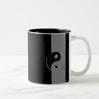 Tasse à deux couleurs Yin Yang Noir/Gris ツートーンマグカップ
