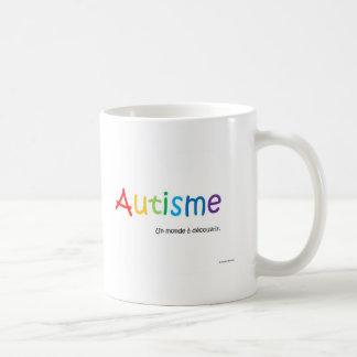 Tasse Autisme国連mondeのàのdécouvrir コーヒーマグカップ