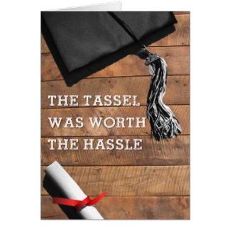 Tassleの口論の卒業カード カード