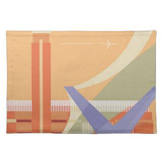 Tateのギャラリーおよび千年間橋 ランチョンマット