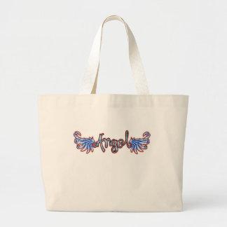 Tatooの天使のバッグ ラージトートバッグ