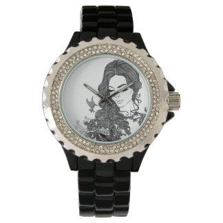 tatooの腕時計を持つ女の子 腕時計