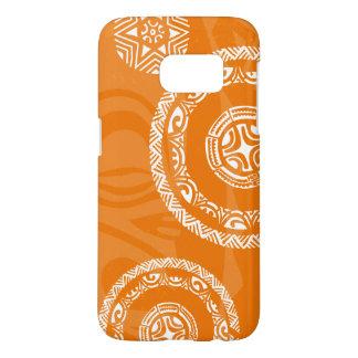 Tatouの秋のオレンジ銀河系S7のやっとそこに箱 Samsung Galaxy S7 ケース