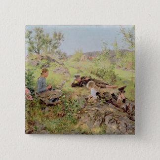 Tatoy 1883年、羊飼い 5.1cm 正方形バッジ