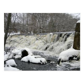 Tauntonの川の滝の郵便はがき ポストカード