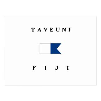 Taveuniフィージーのアルファ飛び込みの旗 ポストカード