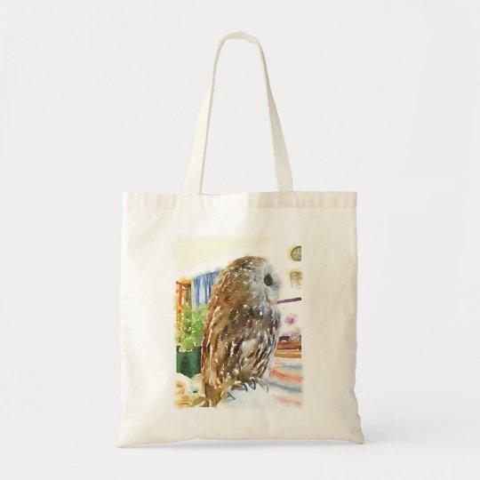 Tawny owl tote bag トートバッグ