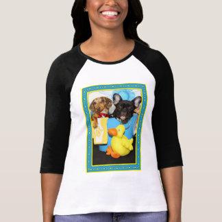 Tazおよびティール(緑がかった色) -ダックスフント及びブルドッグ-3 tシャツ