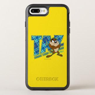 TAZ™のトルネード恐怖の格子縞 オッターボックスシンメトリーiPhone 8 PLUS/7 PLUSケース