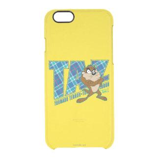 TAZ™のトルネード恐怖の格子縞 クリアiPhone 6/6Sケース