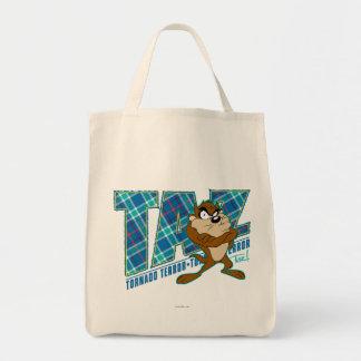 TAZ™のトルネード恐怖の格子縞 トートバッグ