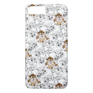 TAZ™の線画色の破裂音パターン iPhone 8 PLUS/7 PLUSケース