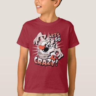 """TAZ™は""""熱狂するに行こう!"""" 明暗中間部 Tシャツ"""