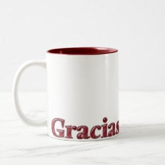 "Taza ""Gracias"" 01 ツートーンマグカップ"