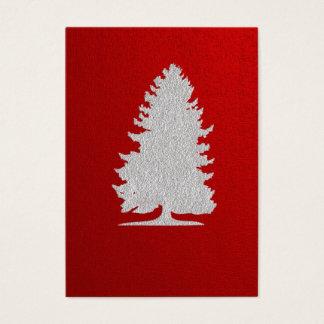 TBAのシルエットのクリスマスのギフトのラベル 名刺