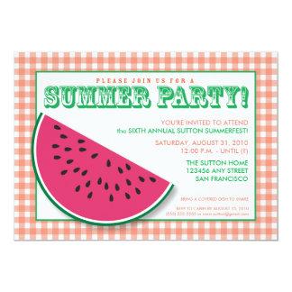 {TBA}スイカの夏Cookout/BBQの招待状 カード