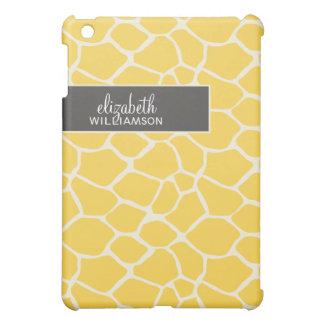 {TBA}レモン色のキリンPern iPad Miniケース