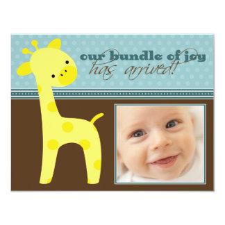 {TBA}喜びのキリンの誕生の発表の束 カード