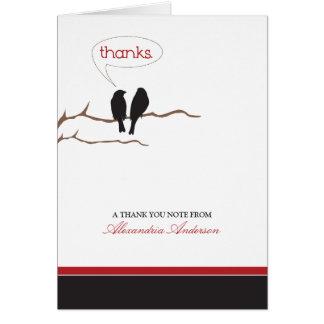 {TBA}小さい小鳥のカスタムなサンキューカード(黒) カード
