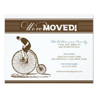 {TBA}旧式な自転車の移動発表(茶色) カード