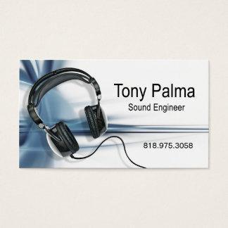 :: TBA:: 滑らかな音響技師の音楽業界カード 名刺