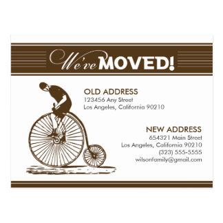 {TBA}郵便はがき: 引っ越しました! 旧式な自転車 ポストカード