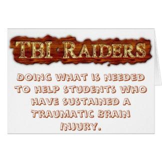 TBIの侵入者の挨拶状 グリーティングカード