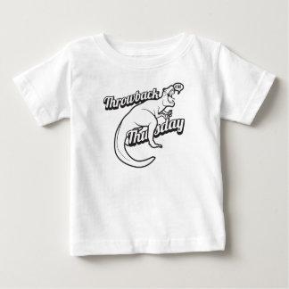 TBT時代遅れの木曜日の恐竜のSelfieのおもしろいなさえずり ベビーTシャツ