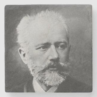 Tchaikovskyの写真のポートレート ストーンコースター
