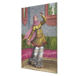 Tchinguis、かトルコのダンサー、18世紀(engrav キャンバスプリント
