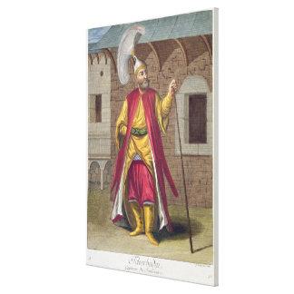 Tchorbadjiのイェニチェリの大尉、第18 centu キャンバスプリント