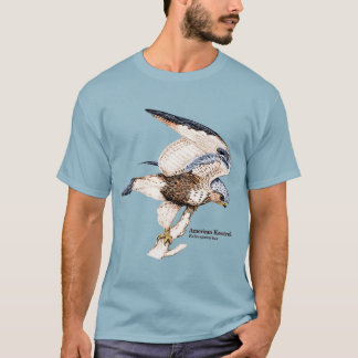 TCWC -メンズアメリカのKestrelのイラストレーション Tシャツ