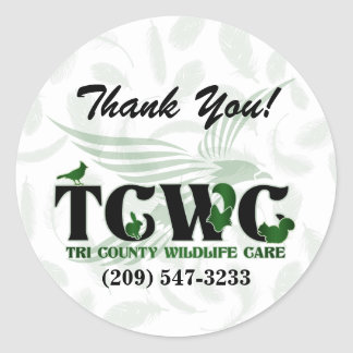 TCWC -ロゴの緑はステッカー感謝していしています ラウンドシール