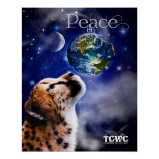 TCWC -地球のチータの平和 ポスター