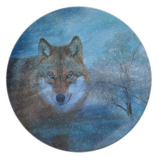 TCWC -青いオオカミのクリスマス プレート