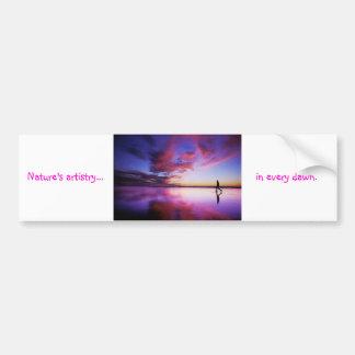 tdgalleryによる夜明けの芸術性 バンパーステッカー