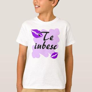 Teのiubesc -ルーマニア人I愛 Tシャツ
