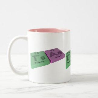 Teテルルとヒ素として茶 ツートーンマグカップ