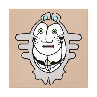 TeマオリのClupkitzの役人のポートレート キャンバスプリント