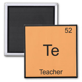 Te -先生おもしろいな化学要素の記号のティー マグネット