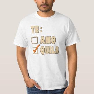 Te Amoのテキーラのスペイン人の選択 Tシャツ
