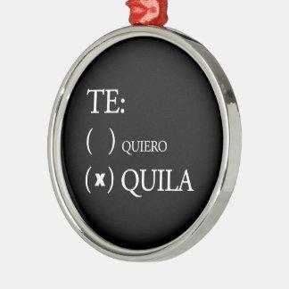 Te Quieroのテキーラ メタルオーナメント