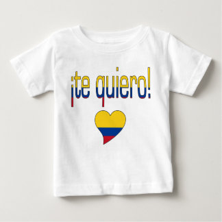 ¡ Te Quiero! コロンビアの旗色 ベビーTシャツ