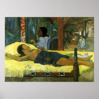 「Te Tamari Atua」-ポール・ゴーギャンのプリント無し ポスター