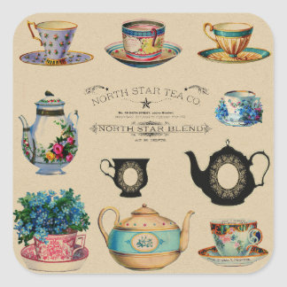 Tea stickers スクエアシール