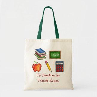 teachに生命先生の教授トートに触れることはあります トートバッグ